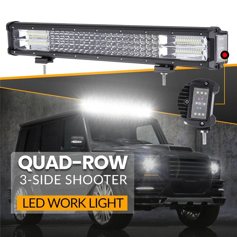 20 inch 432W Triple row 144 LED Work Light Long Bar Spot Light Flood Combo For