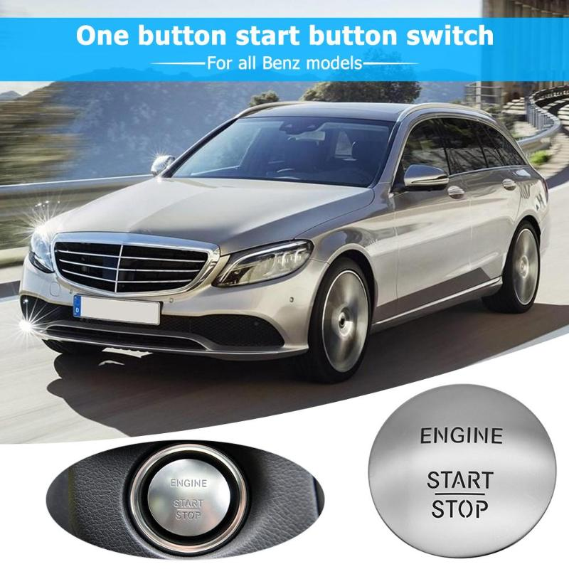 Image 3 - Keyless Go Start Stop Push Button Engine Ignition Switch 2215450714 Silver For All Benz Models With One click Start Switch-in Car Switches & Relays from Automobiles & Motorcycles