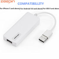 ZEEPIN CA8 Car USB Adapter Auto Plug Voice Control for Apple CarPlay / Android DVD Stereo Navigation Player