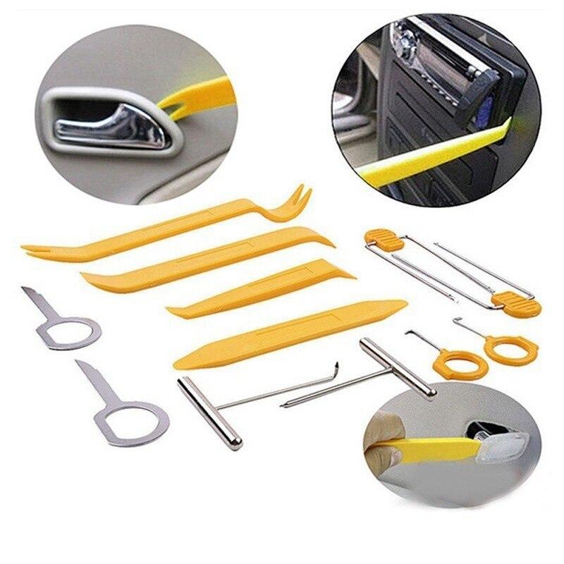 12 piezas herramienta de Audio de Dvd para coche herramientas de eliminación de automóviles herramienta de reparación de Clip de reparación de puerta de Panel de Audio de Radio de plástico