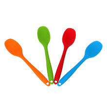 Ложка-мешалка, кухонная утварь, длинная ручная посуда, шпатель для шпаклевки, кухонные принадлежности, ложки для супа, силиконовая ложка