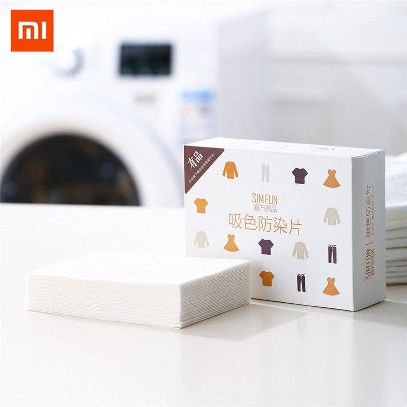 Xiaomi máquina de lavado de tela de teñido uso de papel de lavandería de Color a prueba de teñido