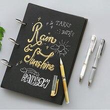 Authentique japon Gel stylo 1.0 Mm bleu/noir/rouge/blanc/argent/or bureau fournitures scolaires imperméable à l'eau lisse écriture peinture stylo