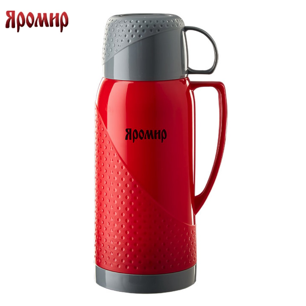 Vacuum Flasks & Thermoses Yaromir YAR-2022C/1 Red/Grey thermomug thermos for tea keep сup stainless steel water mug food flask термос универсальный 1 4 л thermos fdh stainless steel vacuum flask 923639