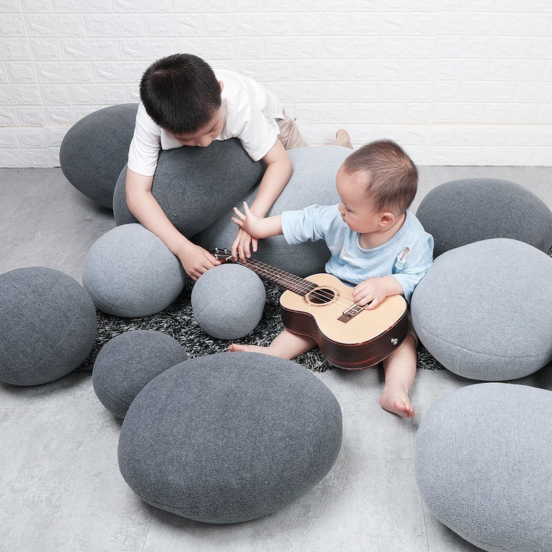 Stone Floor Pillows Stuffed Huge Stone Pillows Floor Cushions Floor Pillow For Kids Living Room Decor Stone Pouf Home Decor Rock