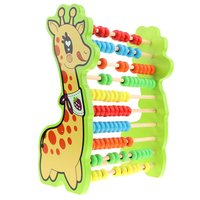 Deer Shaped Wooden 10 Rows Abacus Counting Calculating Game Early Learning Mathematical Educational Toys for Children Kids