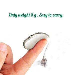 Image 2 - נייד מיני דיגיטלי נטענת שמיעה אוזן איידס לקשישים אלחוטי קול מגברים ארוך זמן שימוש זרוק חינם