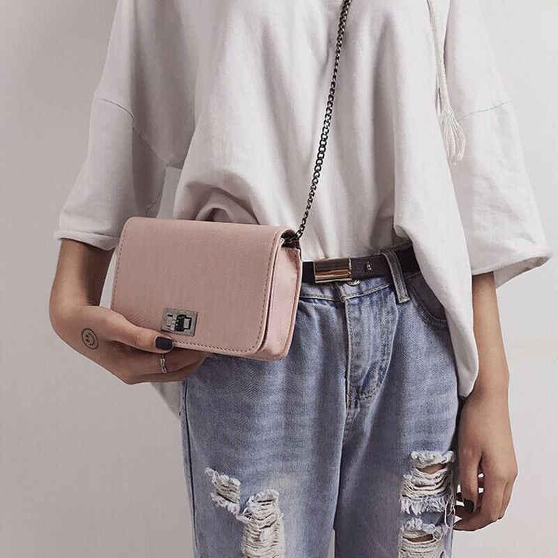 2019 летняя новая модная женская сумка на плечо с цепью ремнем клапаном дизайнерская сумка-клатч женские сумки-мессенджеры с металлической пряжкой