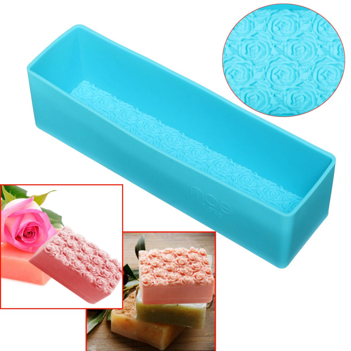 Wooden Loaf Cake Silicone Soap Mold Rose Toast Baking Bread Tools DIY Chocolate Mould Pastry Bread Cake Bakware Tools