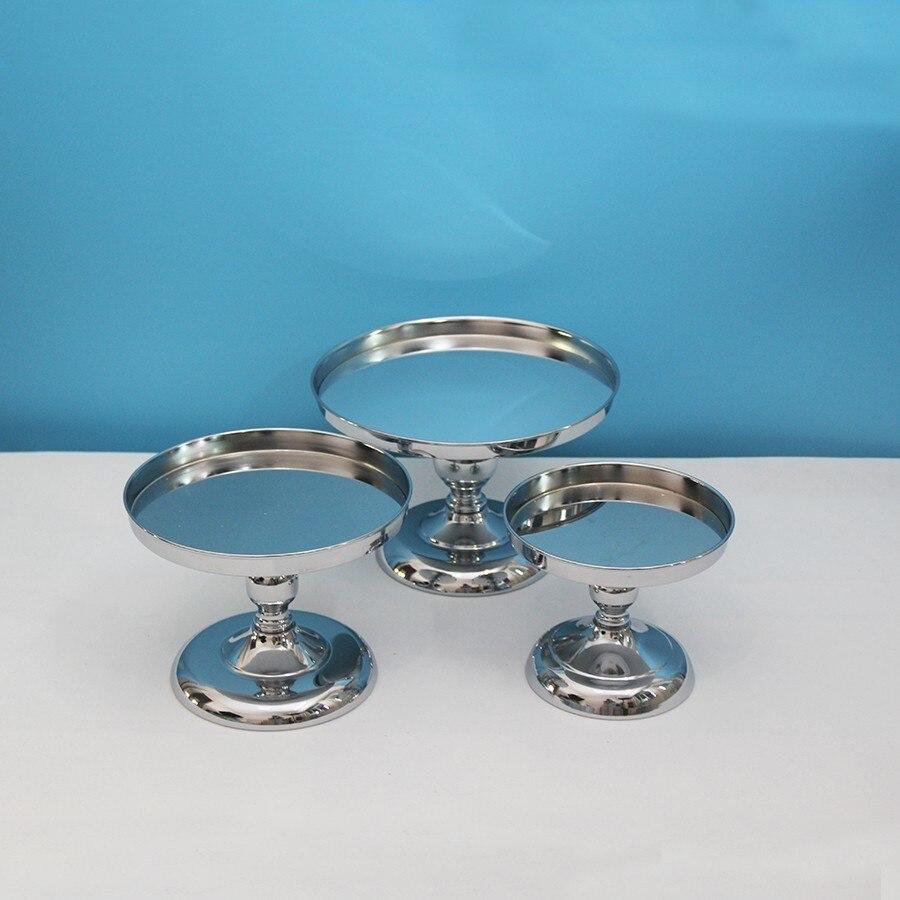 Argent/or/or Rose miroir gâteau Stand galvanoplastie métal Cupcake Stand Grand Design mariage fête Dessert Table décoration