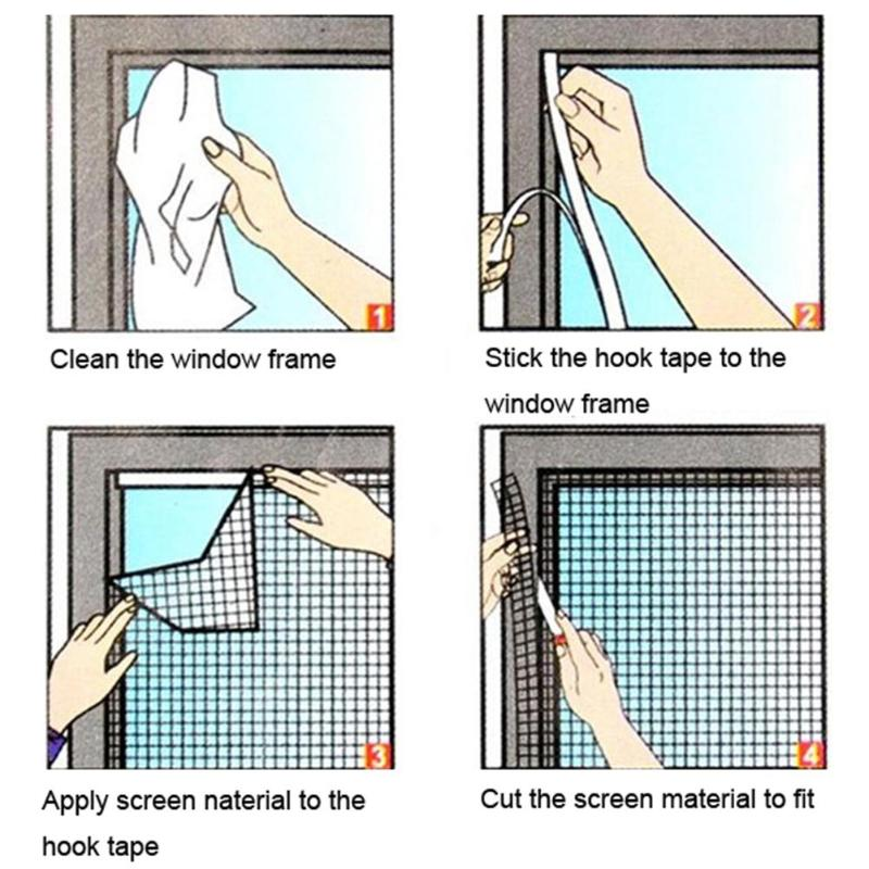 1pc Newest Stealth White Window Insect Screen Mesh Net Mosquito Fly Bug Moth Door Window Netting Flyscreen Sheer Curtain 2018 Fashionable(In) Style;