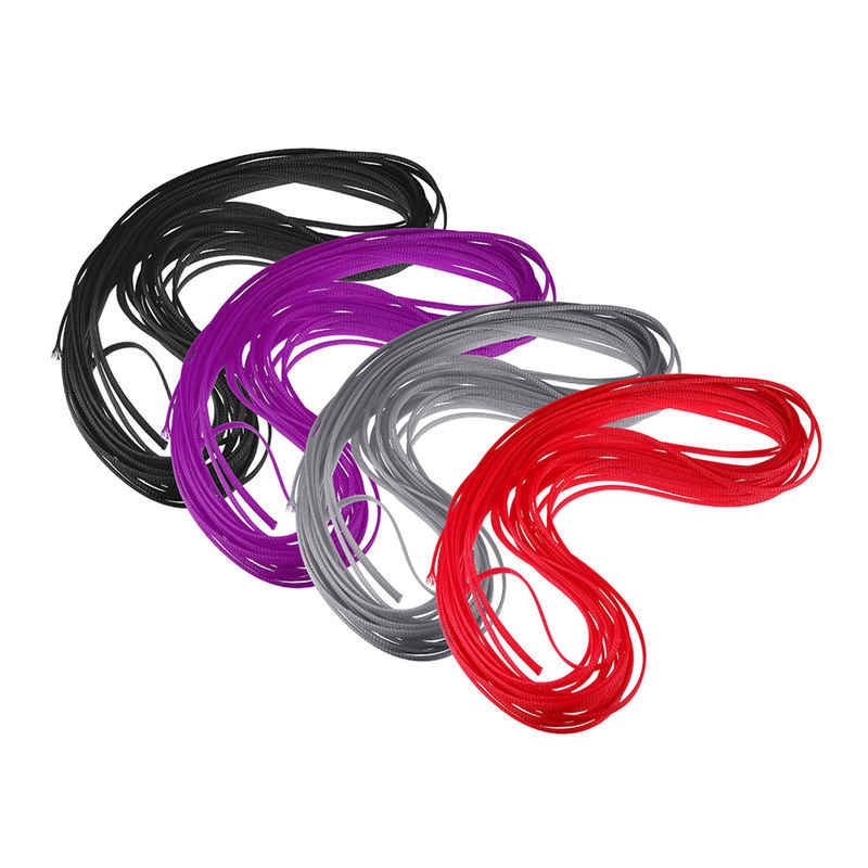 URUAV 6 мм ПЭТ полиэстер плетеная проволочная трубка 20 м для RC FPV гоночный Дрон модель запасные части Аксессуары Черный Фиолетовый красный серый