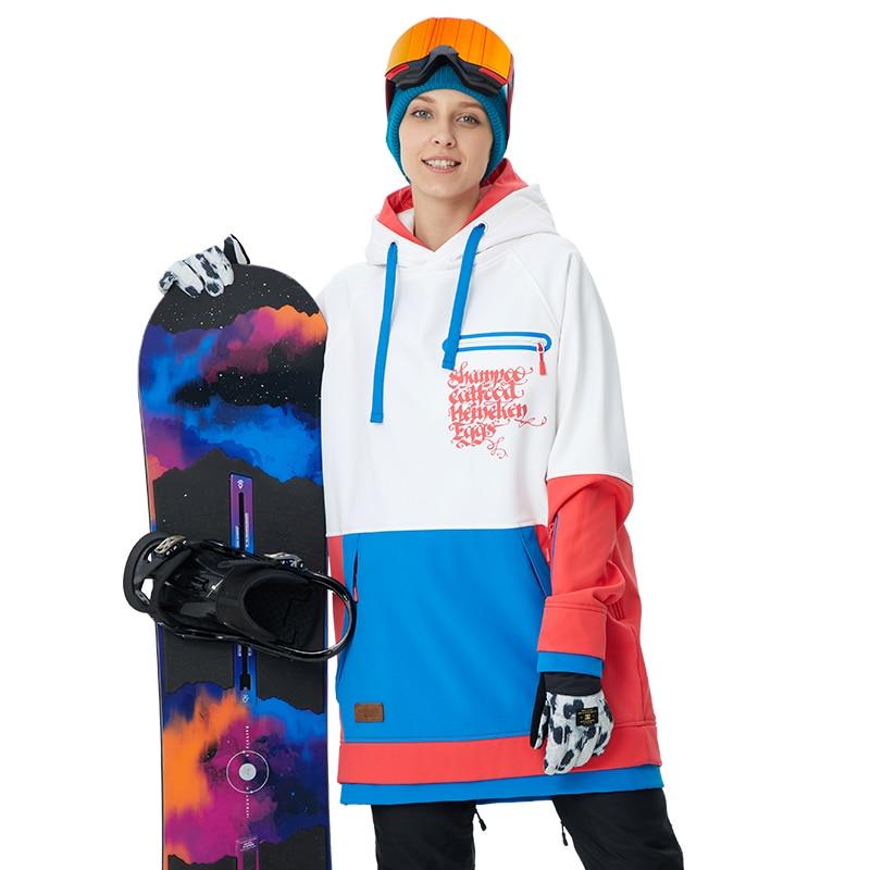 Correndo rio mulher esqui snowboard hoodie 2018 alta qualidade com capuz jaqueta de snowboard esportes ao ar livre 5 cores 3 tamanhos # g6220