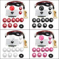 DIY Аркады набор Наборы 5 Pin джойстик 24 мм/30 мм кнопки Запчасти для авто USB кабель кодер доска для джойстик для ПК и пуговицы