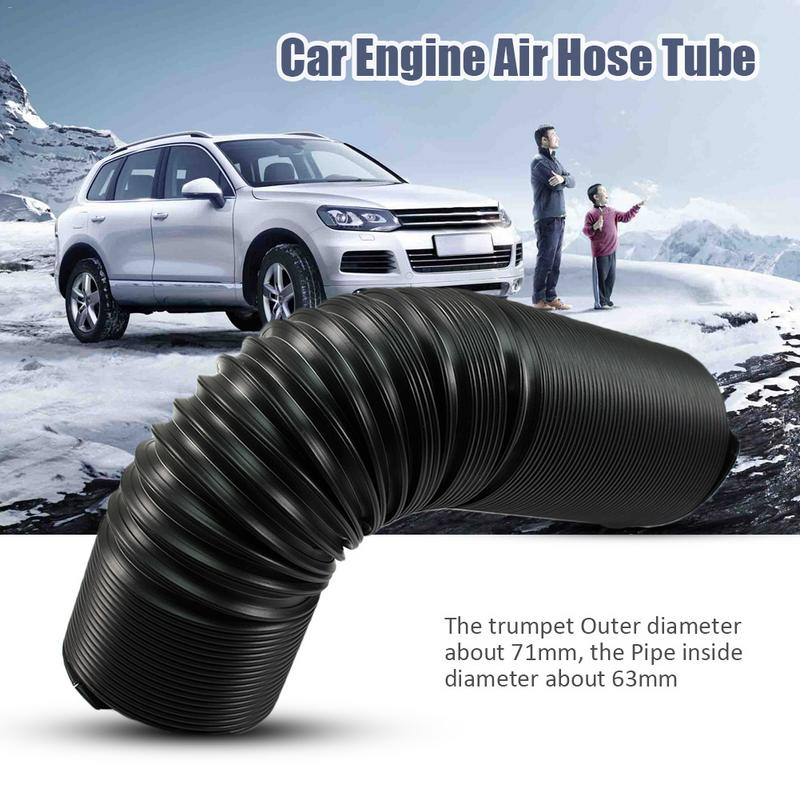 Car Modified Intake Telescopic Tube Corrosion Heat Resistance Adjustable Multi-Flexible SUV Turbo Cold Air Hose Black