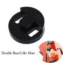 1pcs Round Rubber Two Holes Double Bass Cello Violin Mute Fiddle Silencer for 4/4 or 3/4 Cello Violoncello Part Accessories 5 pieces nylon cello tailgut lightweight durable and of exquisite craftsmanship for 3 4 4 4 cello parts accessories black