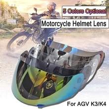 Pieno Viso Scudo Moto Visiera del Casco Lente Dello Schermo Per AGV K3 K4 Motocross Caschi Casco Moto Casco Visiera di Sun