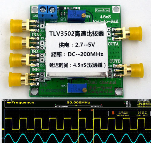 TLV3502 Dual channel High - Speed Comparator 4.5-ns, Rail-to-Rail Compa