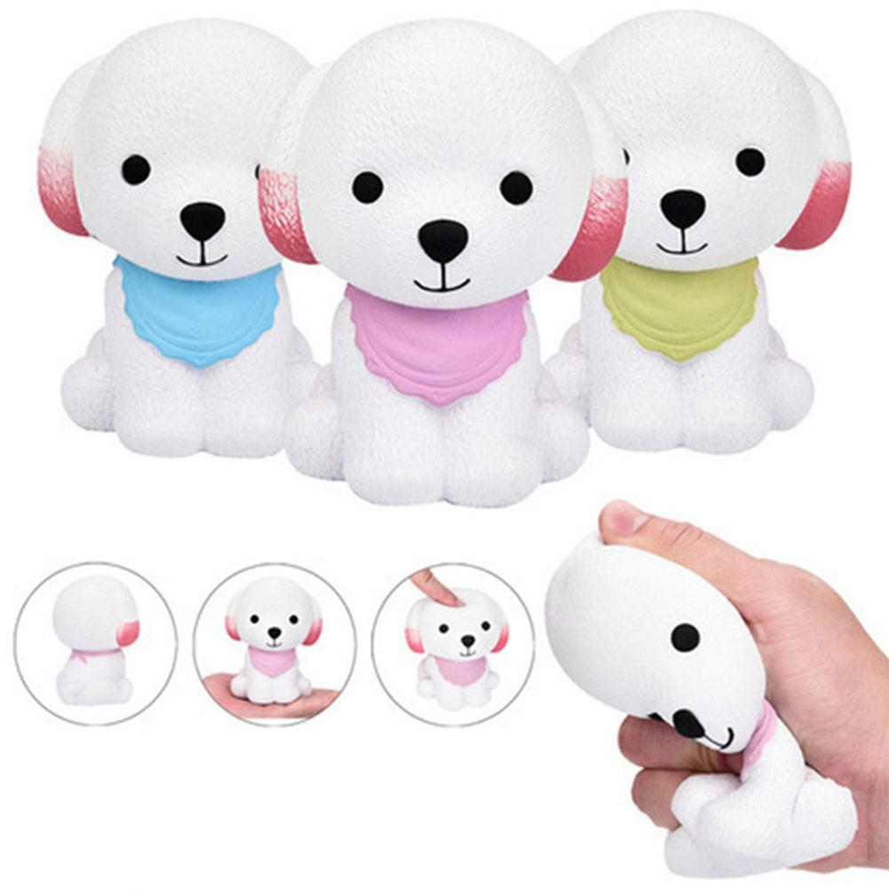 Cute Cartoon Scarf Puppy Dog Slow Rising Toys Chic Squishy Vent Toys Kid Toy Gift