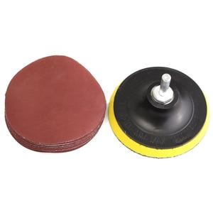 Image 4 - 10 adet zımpara Disk zımpara kancası döngü 1000 Grit + destek pedi + matkap adaptörü yuvarlak zımpara sekiz delikli Disk kum levhalar