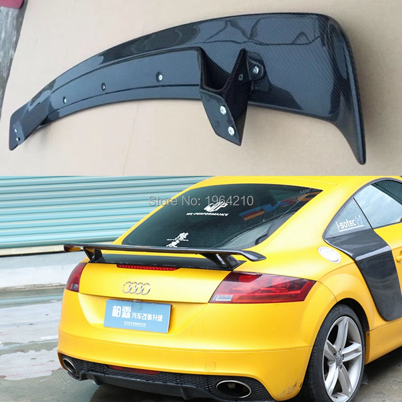 Car Styling Universal Style Exterior Carbon Fiber Modified Rear Spoiler Tail Trunk Lip Wing Decoration For Audi TT Spoiler
