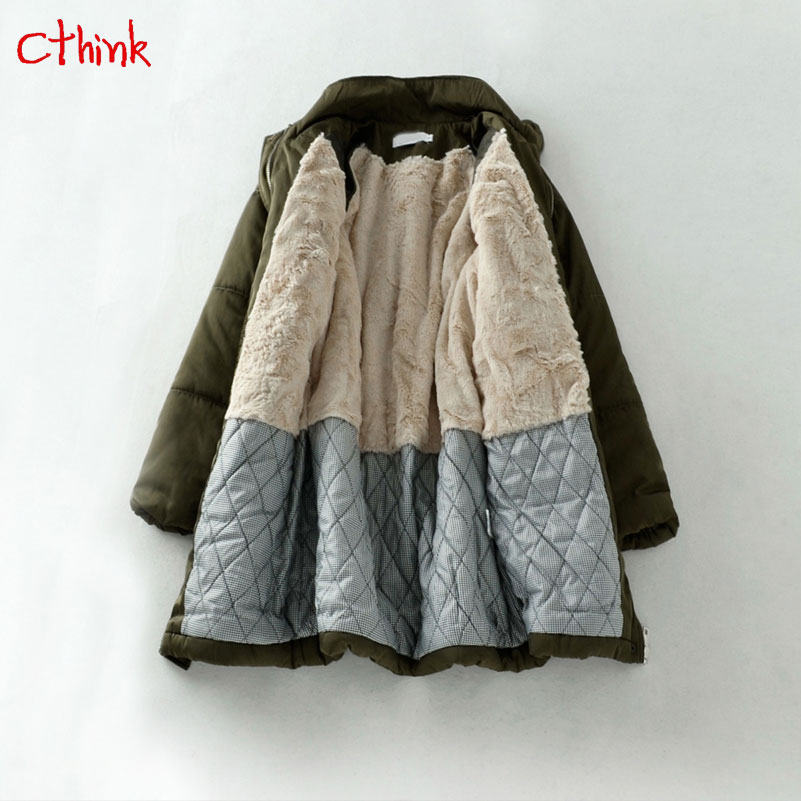 Deep Winter Thicken Fur Linner Warm   Parka   Women 2018 New Cold Christmas Solid Outerwear Coat For Woman Good Quality Womens Coats