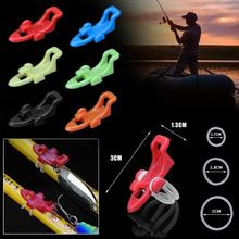 6 Colors Fishing Hook Keeper Fishing Rod Lure Bait Safety Holder Plast