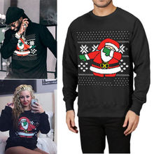 Unisex UGLY CHRISTMAS Vacation Santa Funny Womens Men Casual Sweatshirt New Fashion Long Sleeve Hoodies Plus Size plus size light up christmas ugly sweatshirt
