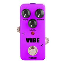 KOKKO Electric Guitar Effects Pedal VIBE Mini Analog Rotary Speaker Guitarra Effect Device True Bypass Guitar Accessories FUV-2 kokko kw 1 guitarra pedal high quality guitar accessories vol wah guitar pedal for guitar lovers