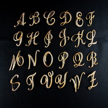 1PCS Brooches Best Alphabet Letter A-Z Gold-Tone Initial Fashion Brooch Pin Crystal Elegant Business DIY Jewelry
