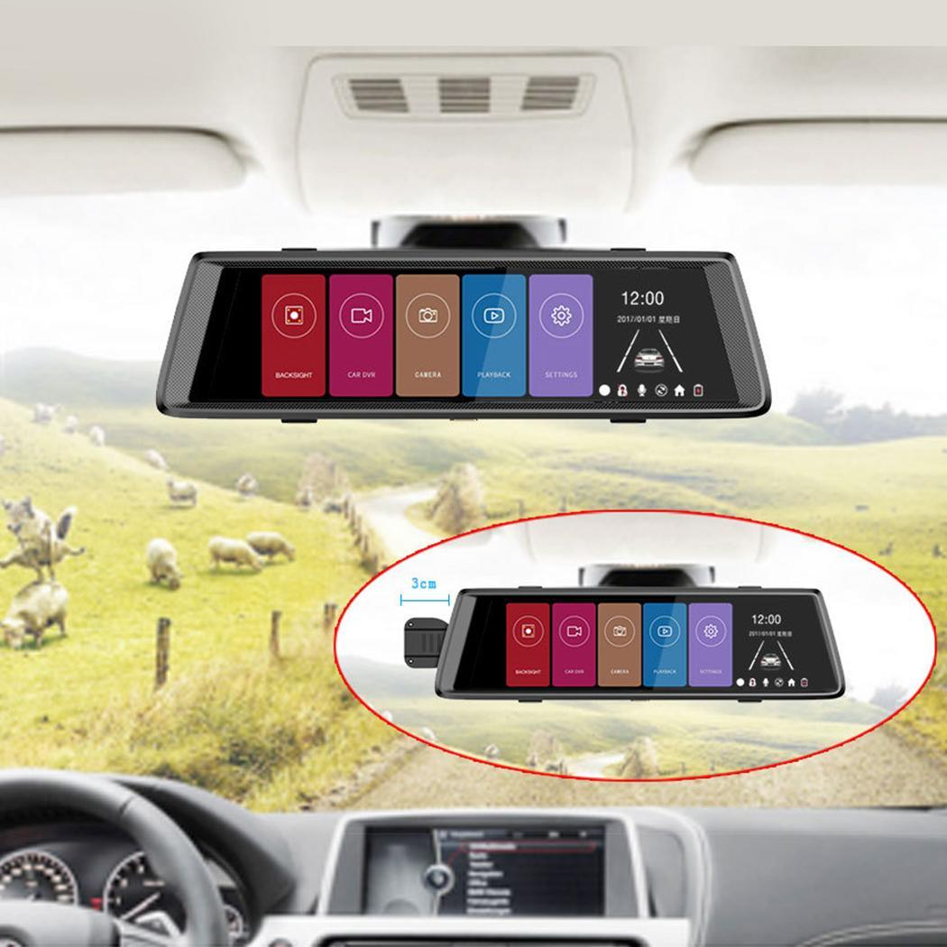 Touch Screen 10 Inch Dual Lens 170 degrees Car Ultra High Definition Black Driving Recorder