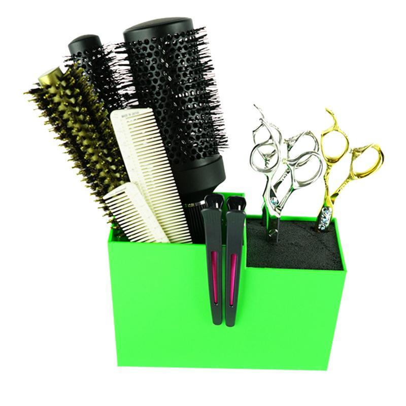 Profession Salon Scissors Holder Rack Hairdresser Scissor Storage Case Keeper Hairdressing Combs Clips Accessories Hair Stylist