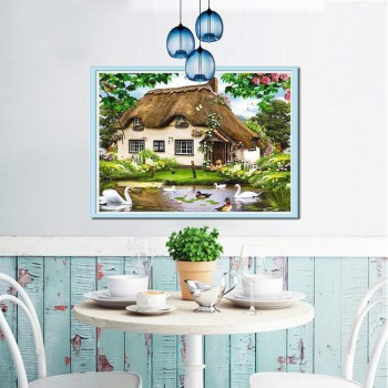 Diamond Painting Cross Stitch Landscape Diamond Embroidery Icon Scenic Full Square Diamond Mosaic Scenery Picture