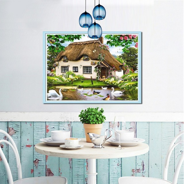 Diamond Painting Cross Stitch Landscape Diamond Embroidery Icon Scenic Full Square Diamond Mosaic Scenery Picture Of