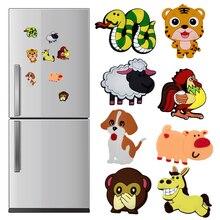 Белая доска наклейка Зодиак украшение дома мультфильм дети подарки 1 шт. магниты на холодильник силиконовые животные Популярные магниты на холодильник