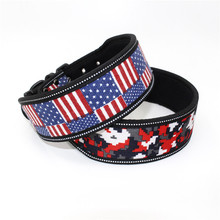 Print Dog Collar Reflective Wide Pet Collars Accessories Animal Products Petshop Supplies for Small Medium Large Dogs Bulldog dog collars 2 feet wide for pit bulldog boxer doberman