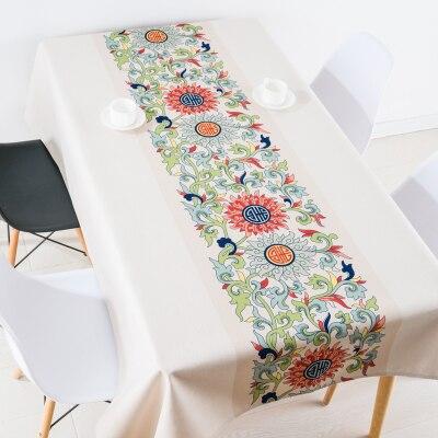 Nouveau style chinois classique fleur nappe linge nappes couverture serviette épaisse rectangulaire antependium salle à manger décoration