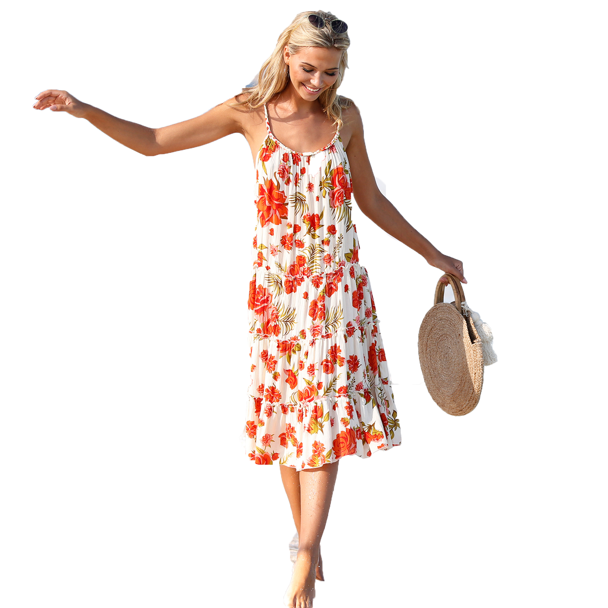 ca7849d9b5 Vestido corto detalle trenzado en tirantes y escote mujer by VencaStyl -