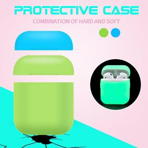 Image 4 - Soft Silicone Portable Cover Bluetooth Airpods Headphone Night Light Protective Case Scratch resistant Protection Box For Apple