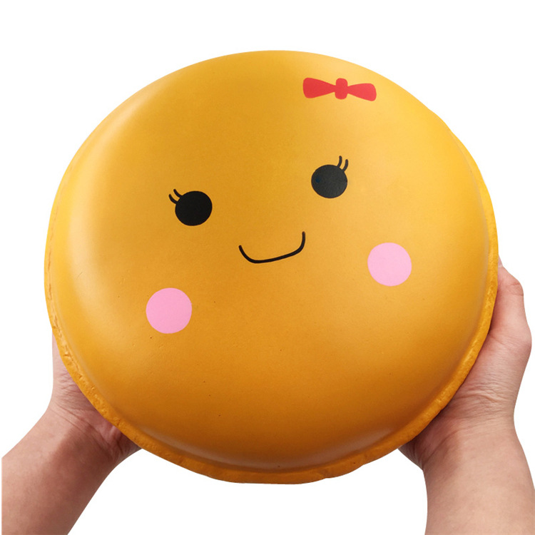 Obliging Bakeey Humongous Adorable Squishies Toys Macaron Cake Slime Gift Decor Slow Rising Squeeze Healing 24cm Anti-stress Pu Foam Mobile Phone Accessories Mobile Phone Straps