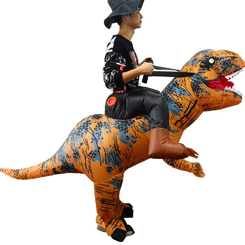 Halloween T-Rex Costume Blow Up Mascotte Cosplay Vêtements Dinosaure Équitation Gonflable Costume Dino de Bande Dessinée Caractères Fantaisie Robe