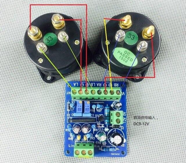 DC 12V wzmacniacz mocy VU miernik płyta sterownicza DB miernik poziomu dźwięku VU nagłówek płyta sterownicza głośnik TA7318P DENON