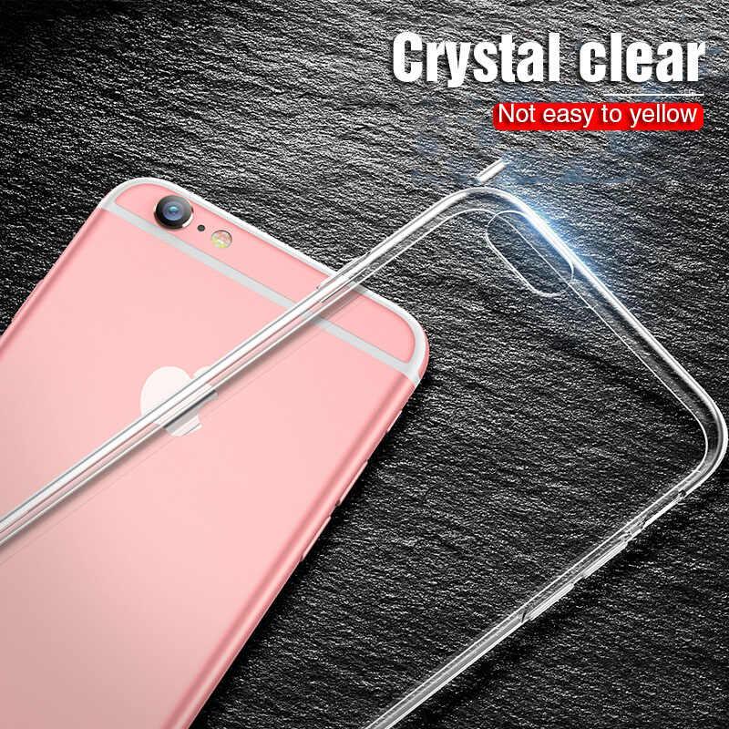 Фото Высокое качество Прозрачный мягкий чехол для телефона iPhone XS MAX XR X 5 5S SE 6 S 7 8 Plus