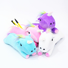 Unicorn Pencil font b Case b font Quality Fabric School Supplies Stationery Pencil font b Bag