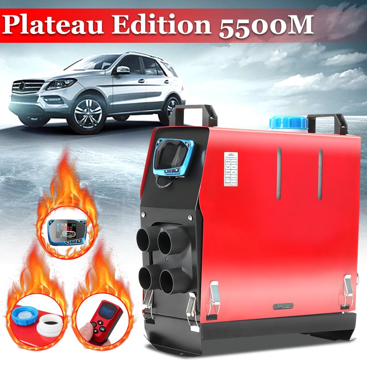Tout en un 5000 W Air diesels chauffage 5KW 12 V voiture chauffage pour camions camping-cars bateaux Bus + LCD commutateur + anglais télécommande