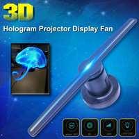 3D Wi Fi голограмма рекламный дисплей светодиодный вентилятор голографическая визуализация 3D невооруженный глаз светодиодный вентилятор све