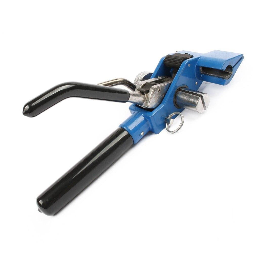 Novo cabo tie gun aço inoxidável zip cabo tie alicate pacote ferramenta tensionamento gatilho ação cabo arma com cortador