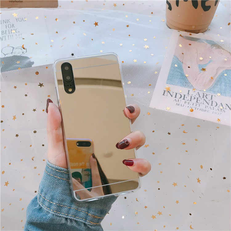 Mirror Effect Case For Huawei Y7Pro Y9 P Smart 2019 P20 Mate20 Lite Pro Honor 8X 8C 7A Pro 7C 10 9 8 Lite Nova 3 3i Soft Cover