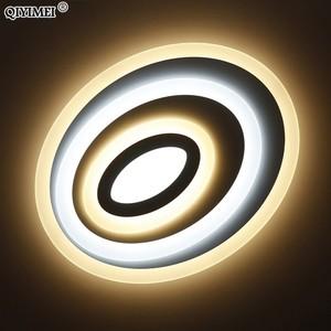 Image 5 - Luces Led de techo de atenuación, Control remoto, modernas, para sala de estar, dormitorio, forma ovalada, 5 tamaños, nuevas lámparas de techo de diseño