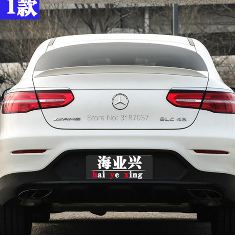 For <font><b>Benz</b></font> GLC Coupe GLC43 GLC260 <font><b>Spoiler</b></font> ABS Plastic Unpainted Color <font><b>Rear</b></font> Roof <font><b>Spoiler</b></font> Wing Trunk Lip Boot Cover Car Styling image